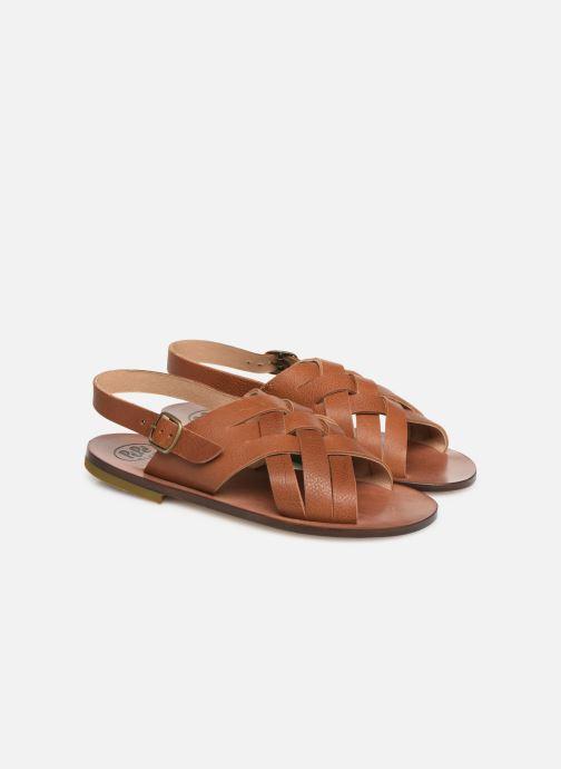 Sandales et nu-pieds PèPè Kava Marron vue 3/4