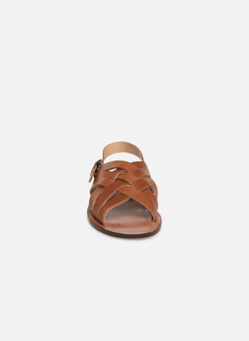 Sandales et nu-pieds PèPè Kava Marron vue portées chaussures