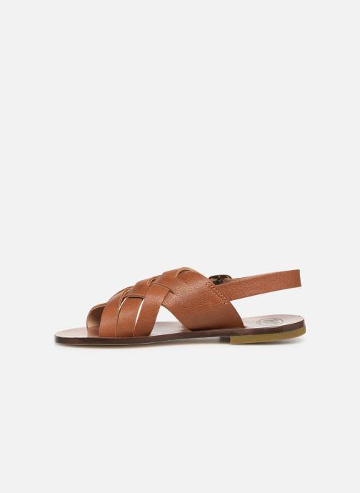 Sandales et nu-pieds PèPè Kava Marron vue face