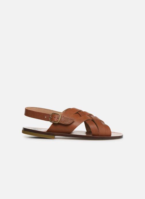 Sandales et nu-pieds PèPè Kava Marron vue derrière