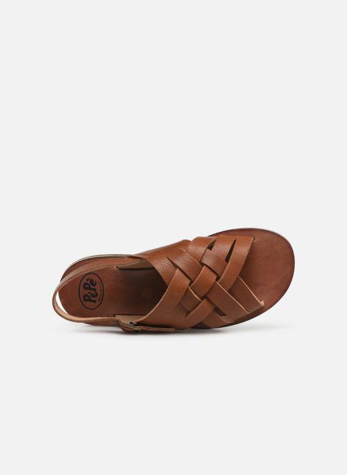 Sandales et nu-pieds PèPè Kava Marron vue gauche