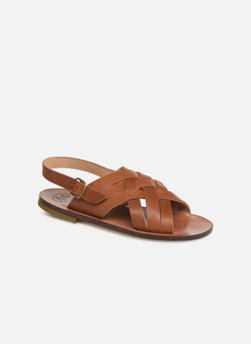 Sandales et nu-pieds PèPè Kava Marron vue détail/paire
