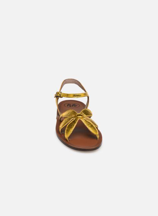 Sandales et nu-pieds PèPè Laminato Argent vue portées chaussures