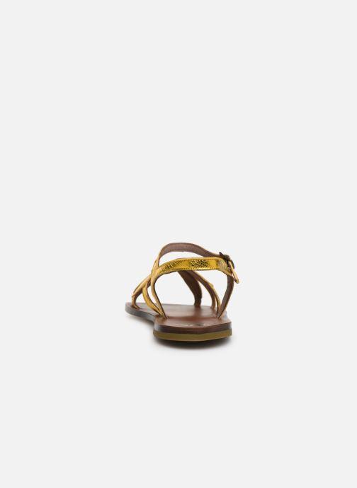 Sandales et nu-pieds PèPè Laminato Argent vue droite