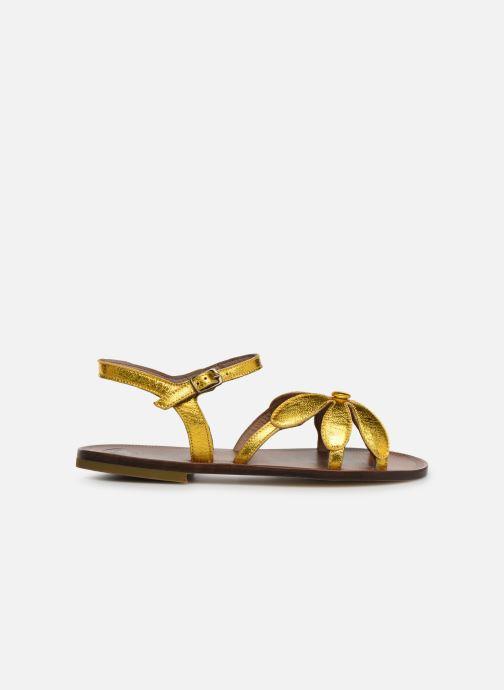 Sandales et nu-pieds PèPè Laminato Argent vue derrière