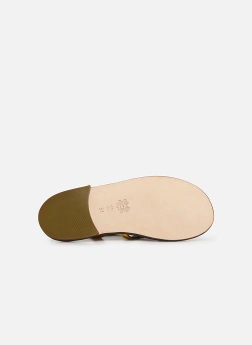 Sandales et nu-pieds PèPè Laminato Argent vue haut