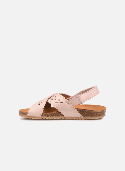 Sandales et nu-pieds PèPè Vacchetta Rose vue face
