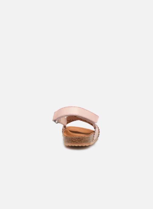 Sandales et nu-pieds PèPè Vacchetta Rose vue droite