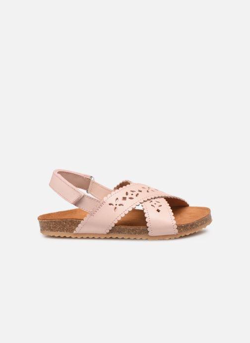 Sandales et nu-pieds PèPè Vacchetta Rose vue derrière