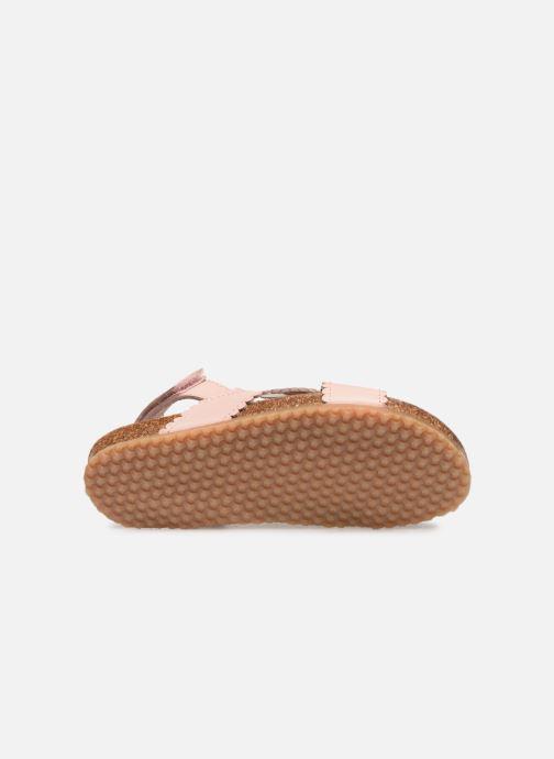 Sandales et nu-pieds PèPè Vacchetta Rose vue haut