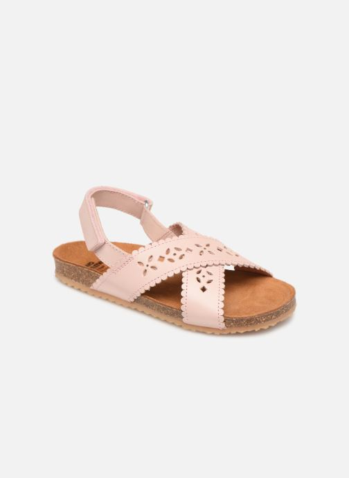 Sandales et nu-pieds PèPè Vacchetta Rose vue détail/paire