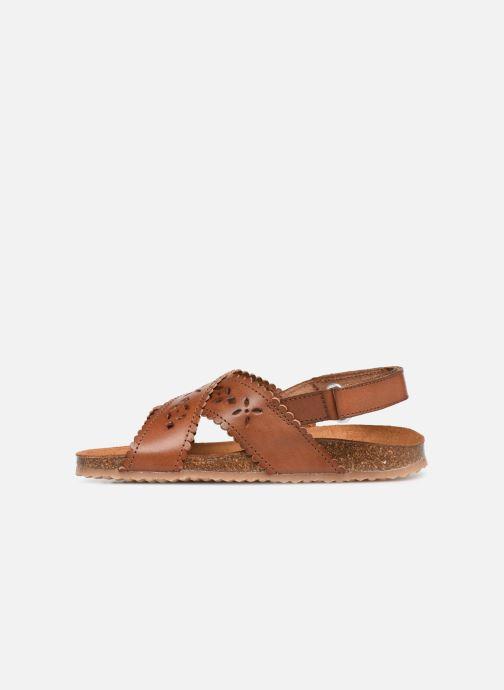 Sandales et nu-pieds PèPè Vacchetta Marron vue face