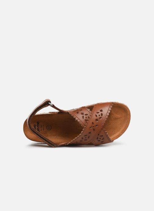 Sandales et nu-pieds PèPè Vacchetta Marron vue gauche