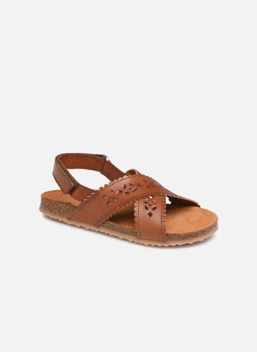 Sandales et nu-pieds PèPè Vacchetta Marron vue détail/paire