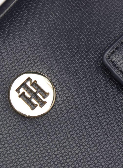 Bolsos de mano Tommy Hilfiger EFFORTLESS SAFFIANO EW TOTE Azul vista lateral izquierda