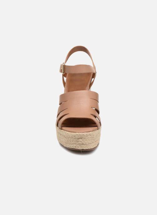 Sandales et nu-pieds KG By Kurt Geiger Aura Marron vue portées chaussures