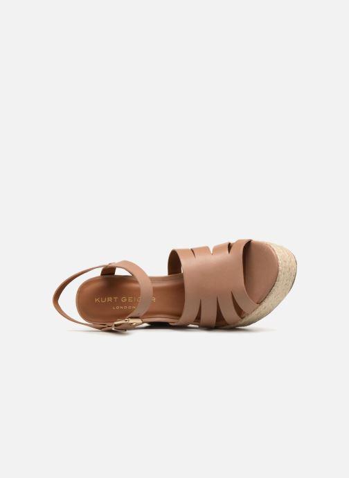 Sandales et nu-pieds KG By Kurt Geiger Aura Marron vue gauche