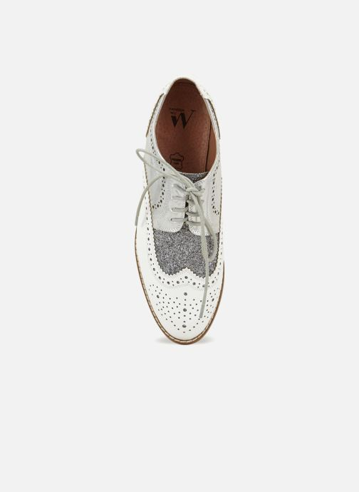 Chaussures à lacets Vanessa Wu RL1756 Blanc vue gauche