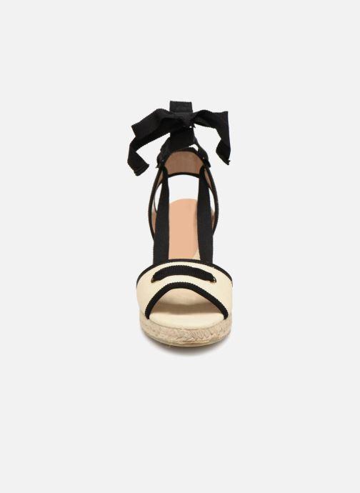 Espadrilles Castaner Grosella Beige vue portées chaussures