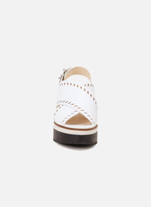 Sandales et nu-pieds Jil Sander Navy JN30023 Blanc vue portées chaussures