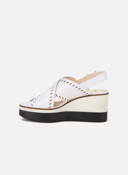 Sandales et nu-pieds Jil Sander Navy JN30023 Blanc vue face