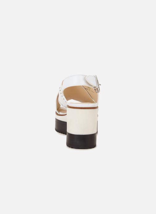 Sandales et nu-pieds Jil Sander Navy JN30023 Blanc vue droite
