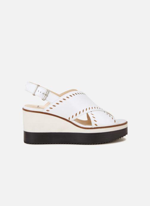 Sandales et nu-pieds Jil Sander Navy JN30023 Blanc vue derrière