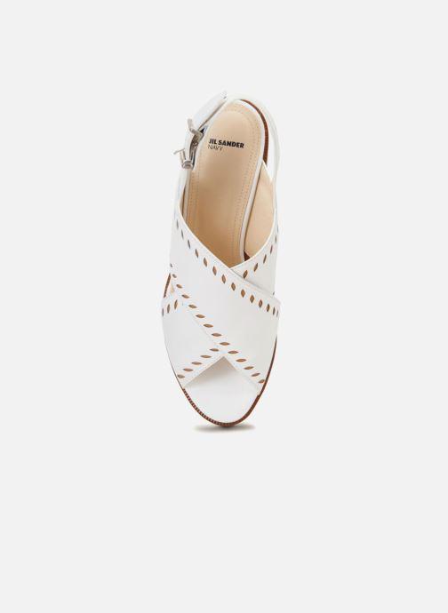Sandales et nu-pieds Jil Sander Navy JN30023 Blanc vue gauche