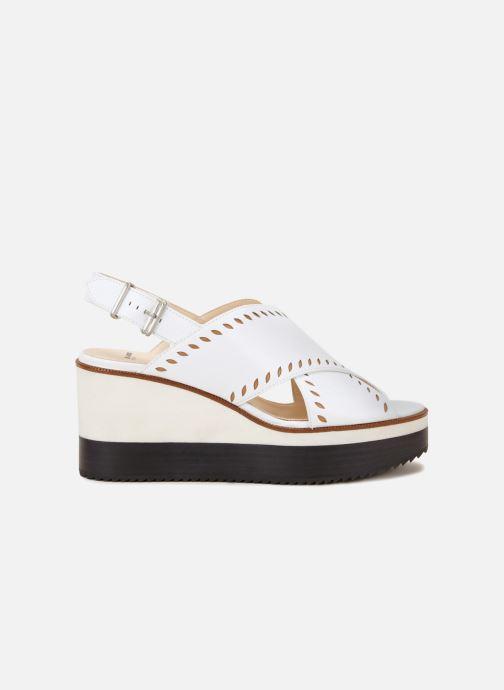 Sandales et nu-pieds Jil Sander Navy JN30023 Blanc vue détail/paire
