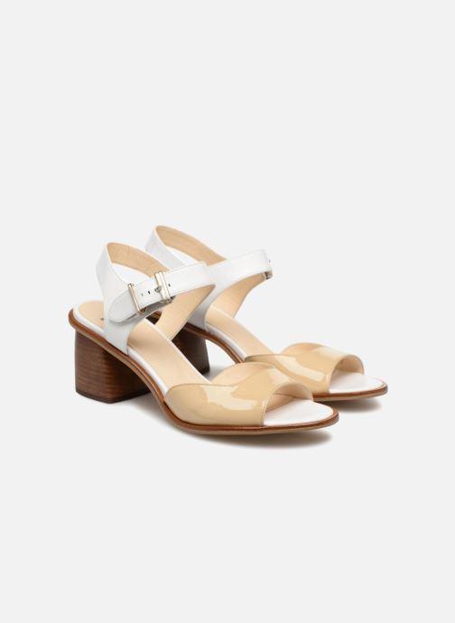 Sandales et nu-pieds Jil Sander Navy JN30041 Blanc vue 3/4