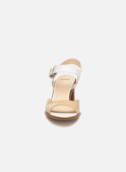 Sandales et nu-pieds Jil Sander Navy JN30041 Blanc vue portées chaussures