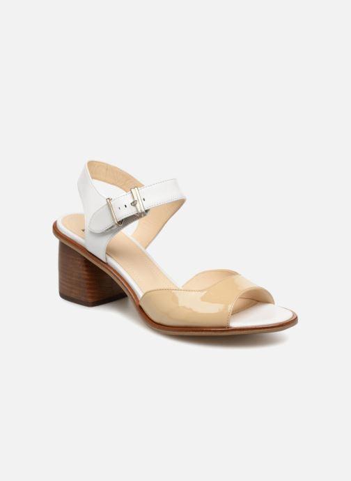 Sandales et nu-pieds Jil Sander Navy JN30041 Blanc vue détail/paire