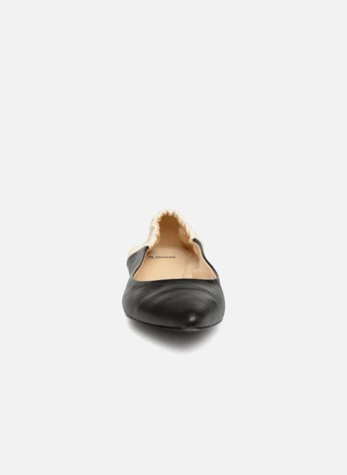 Ballerines Jil Sander Navy JN30060 Noir vue portées chaussures