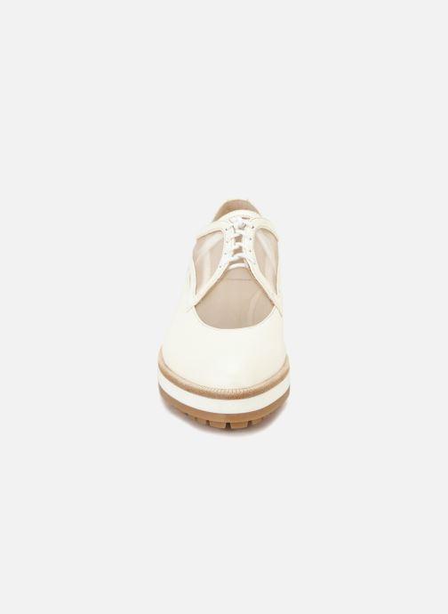Chaussures à lacets Jil Sander Navy JN30071 Blanc vue portées chaussures