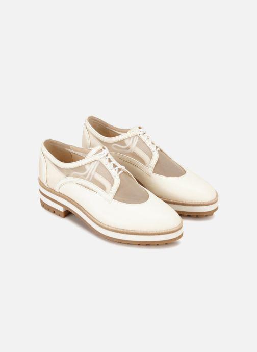 Chaussures à lacets Jil Sander Navy JN30071 Blanc vue face