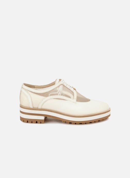Chaussures à lacets Jil Sander Navy JN30071 Blanc vue derrière