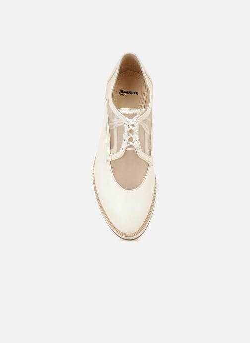 Chaussures à lacets Jil Sander Navy JN30071 Blanc vue gauche