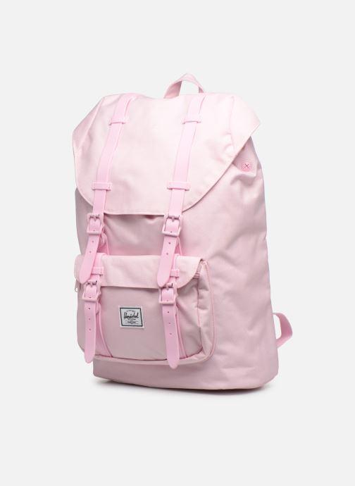 Rucksäcke Herschel LITTLE AMERICA MID-VOLUME rosa schuhe getragen