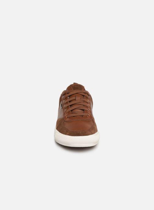 Baskets Geox U KAVEN A U926MA Marron vue portées chaussures
