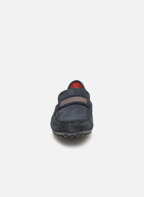 Mocassins Geox U SNAKE C U9207C Bleu vue portées chaussures