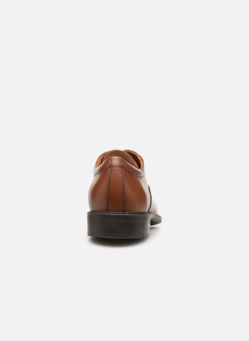 Lace-up shoes Geox U CARNABY A U92W1A Brown view from the right