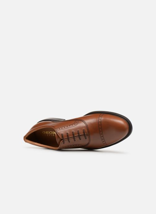Lace-up shoes Geox U CARNABY A U92W1A Brown view from the left