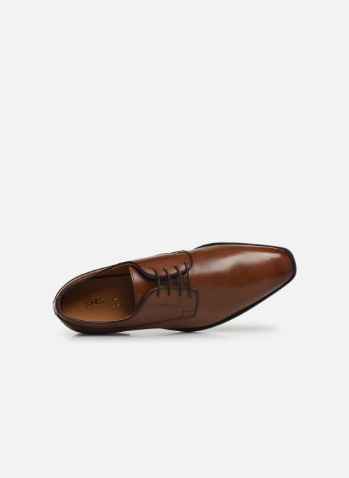 Lace-up shoes Geox U NEW LIFE B U92P4B Brown view from the left