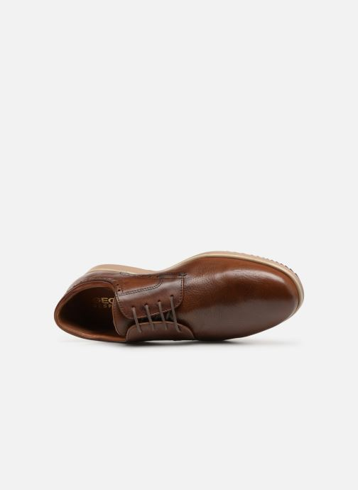 Zapatos con cordones Geox U BLAINEY B U926QB Marrón vista lateral izquierda