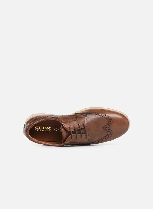 Zapatos con cordones Geox U BLAINEY A U926QA Marrón vista lateral izquierda