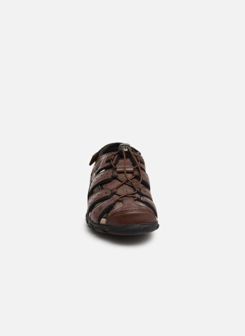 Sandales et nu-pieds Geox U STRADA B U6224B Marron vue portées chaussures