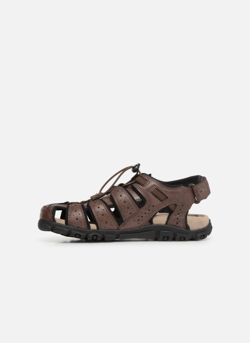 Sandales et nu-pieds Geox U STRADA B U6224B Marron vue face