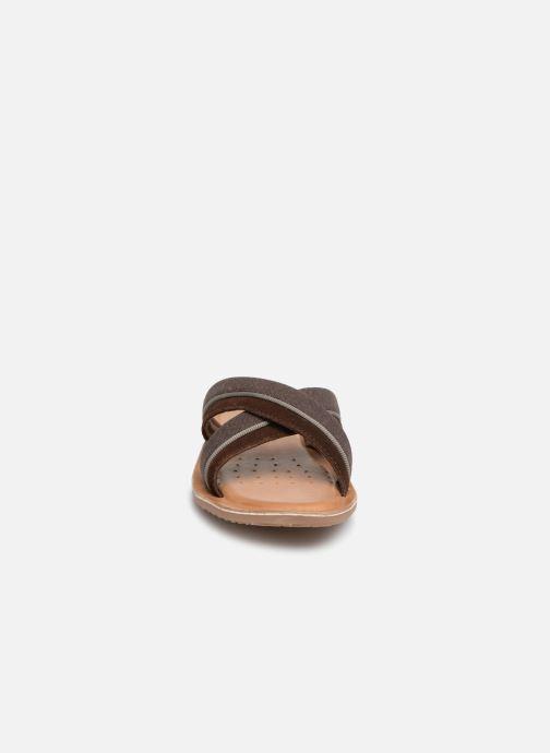 Sandalen Geox U ARTIE C U92V1F braun schuhe getragen
