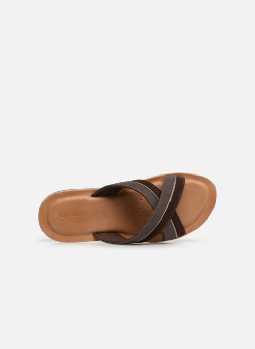 Sandals Geox U ARTIE C U92V1F Brown view from the left
