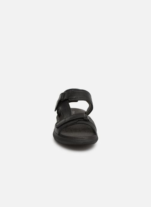 Sandalen Geox U GOINWAY A U926VA schwarz schuhe getragen